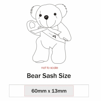 15cm Red Nose Bear Sash
